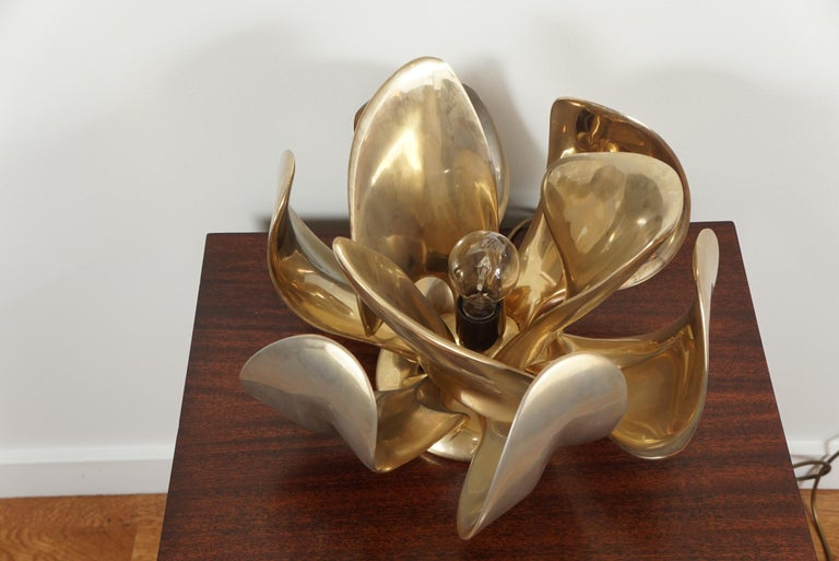 French Michel Armand Rare Lit Table Sculpture For Sale