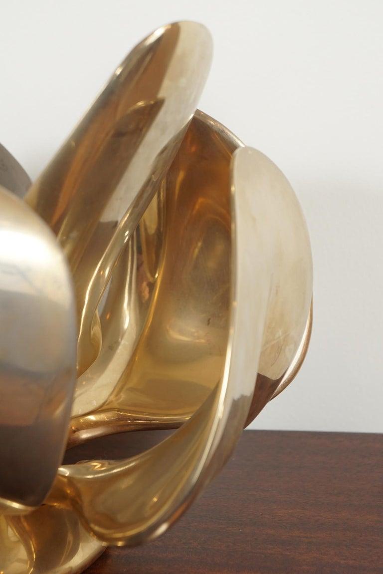 20th Century Michel Armand Rare Lit Table Sculpture For Sale
