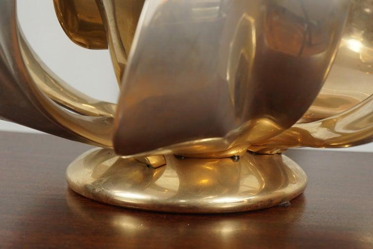 Bronze Michel Armand Rare Lit Table Sculpture For Sale