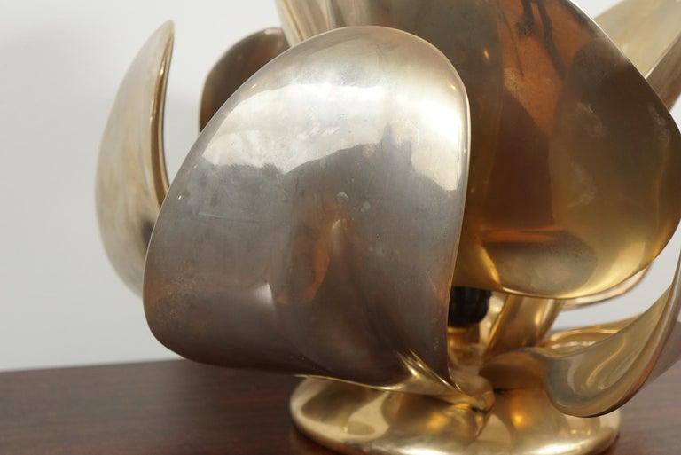 Michel Armand Rare Lit Table Sculpture For Sale 1