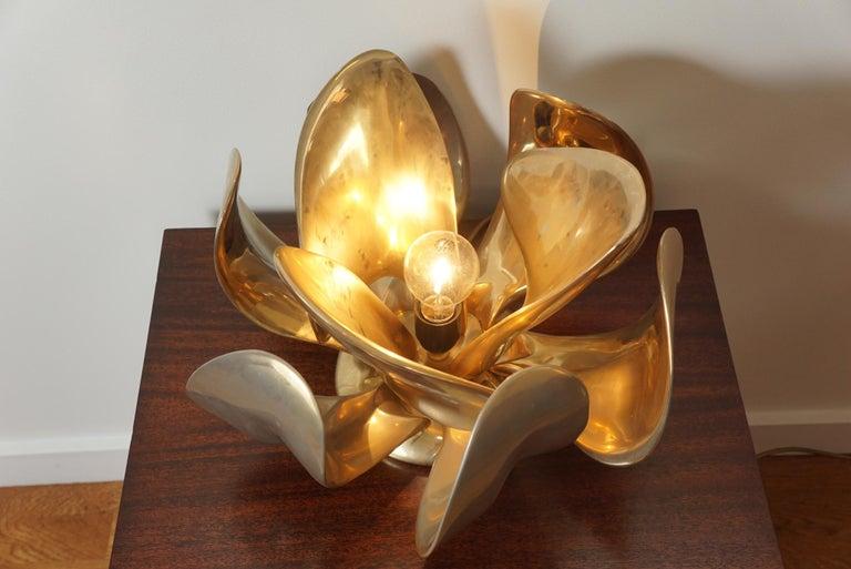 Michel Armand Rare Lit Table Sculpture For Sale 3