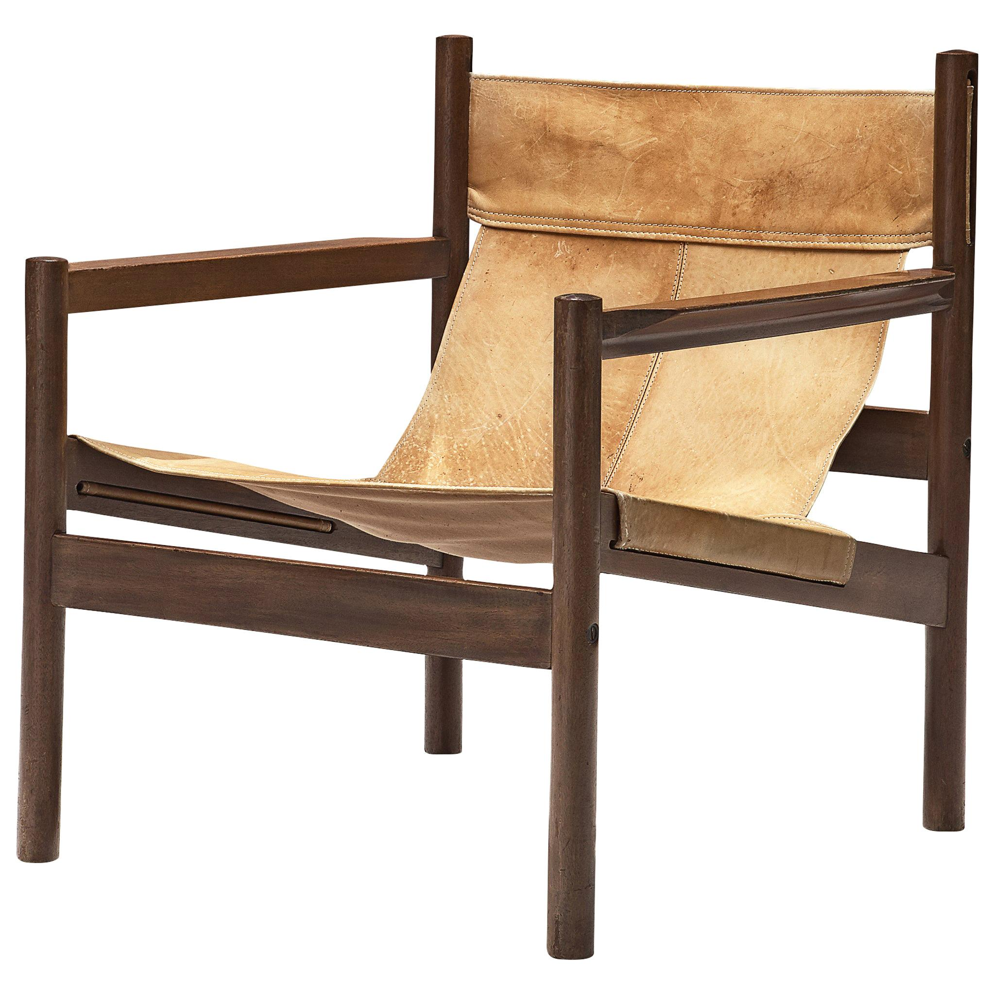 Michel Arnoult 'Roxinho' Lounge Chair in Naturel Leather