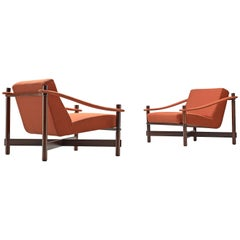 Michel Arnoult, Set of Brazilian Lounge Chairs in Rosewood, 1965