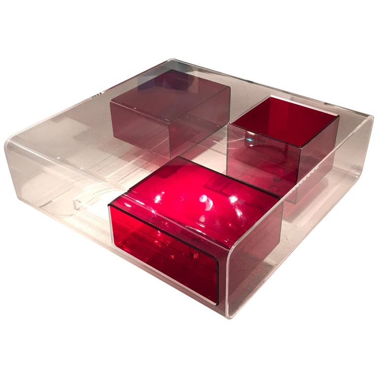 Michel Boyer Lucite Coffee Table For Sale