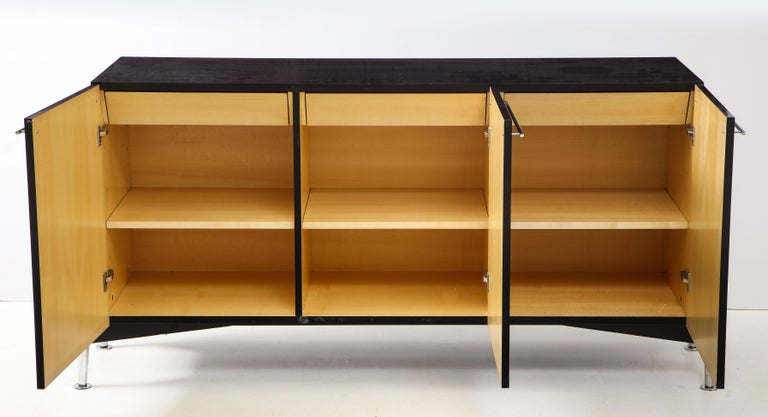 Blackened Michel Boyer Sideboard, Private Commission, France, 1990, Signed 'mb' For Sale