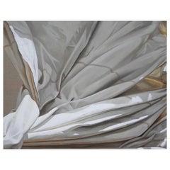 """Plein Air"" Oil on linen painting of a white sail cascade"