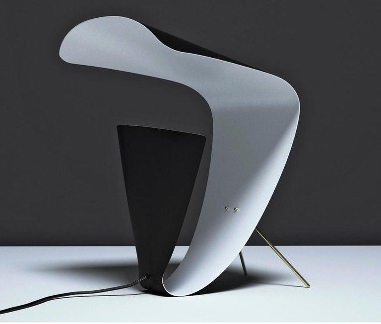 French Michel Buffet Mid-Century Modern Black B201 Desk Lamp For Sale