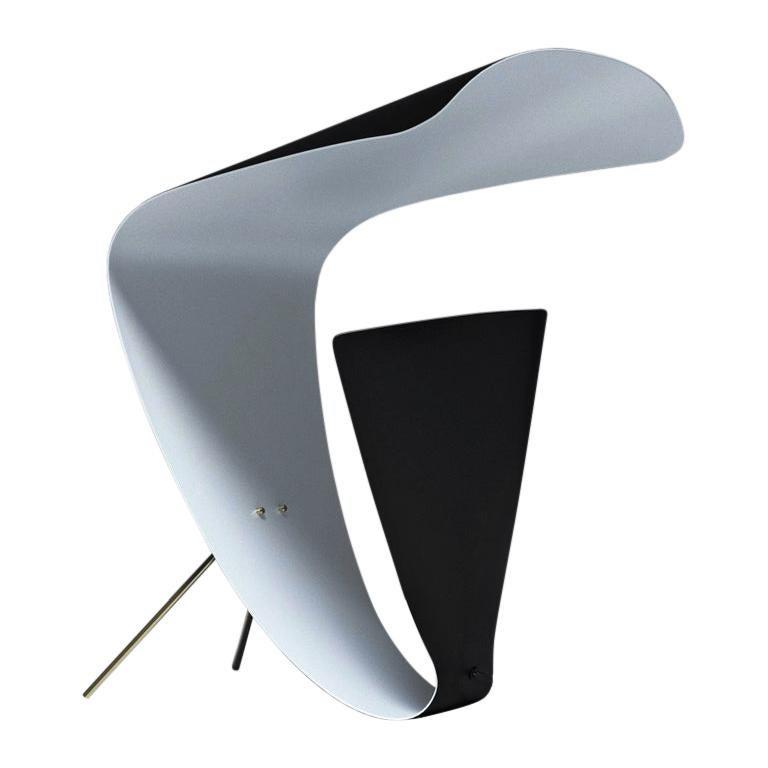 Michel Buffet Mid-Century Modern Black B201 Desk Lamp For Sale
