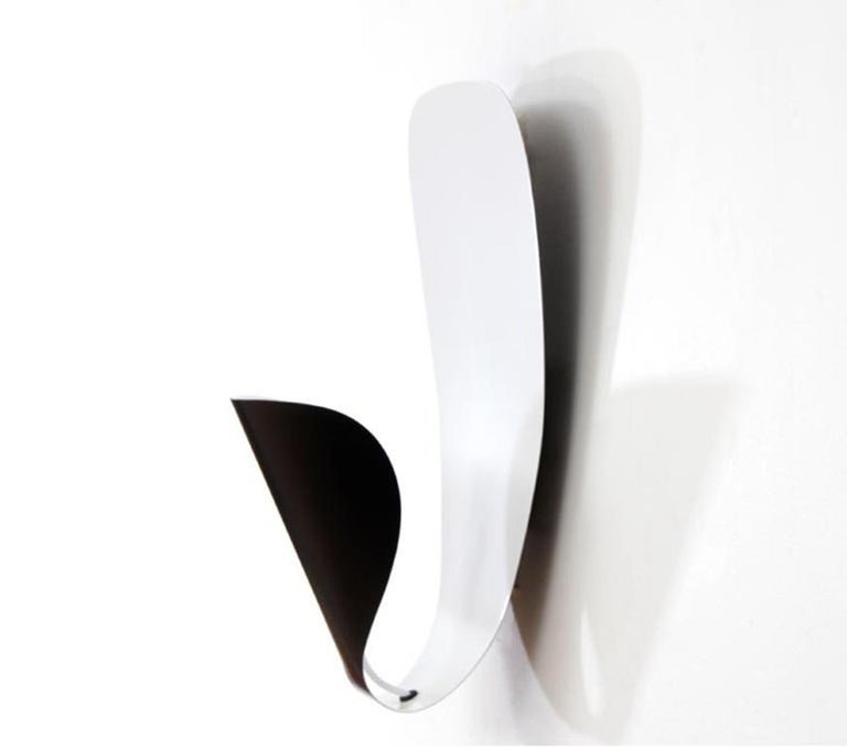 French Michel Buffet Mid-Century Modern Black B206 Wall Sconce Lamp Set For Sale