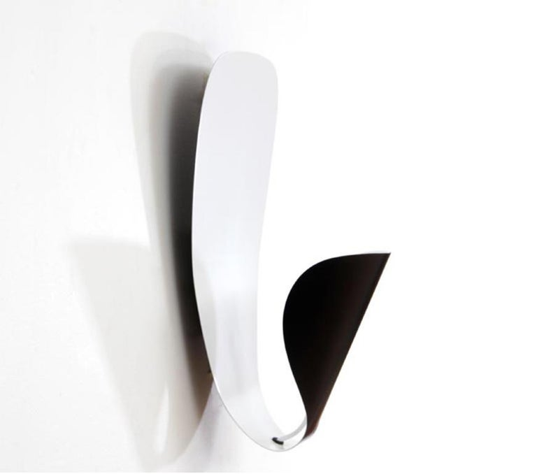 Contemporary Michel Buffet Mid-Century Modern Black B206 Wall Sconce Lamp Set For Sale