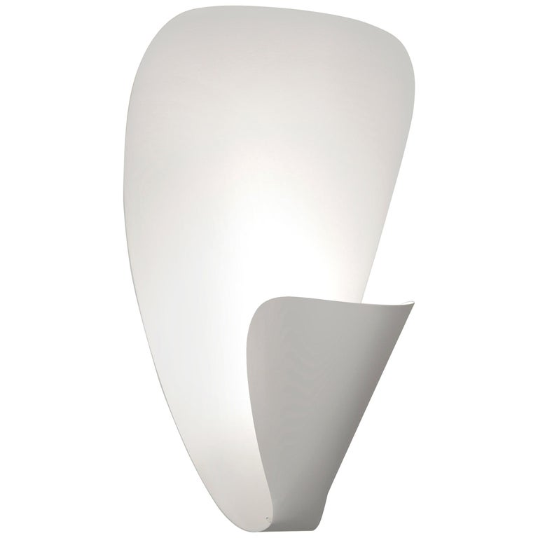 Michel Buffet Mid-Century Modern White B206 Wall Sconce Lamp For Sale
