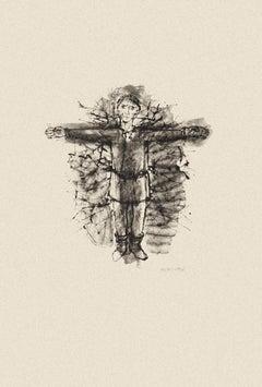 Crucifix - Original Etching by Michel Ciry - 1964