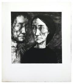 Figures in the Dark - Original Etching by Michel Ciry - Mid 20th Century