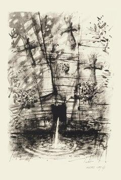 Fountain - Original Etching by Michel Ciry - 1964