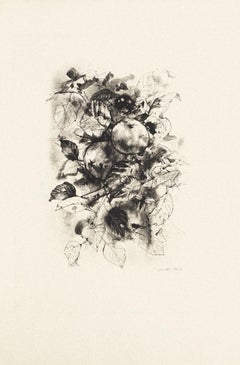 Fruit - Original Etching by Michel Ciry - 1964