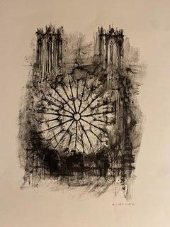 Notre Dame De Paris - Original Lithograph by Michel Ciry - 1964