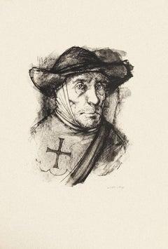 Portrait of Man  - Original Etching by Michel Ciry - 1964