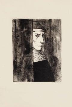 Portrait - Original Etching by Michel Ciry - 1964