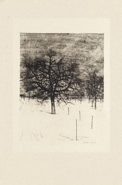 Trees - Original Etching by Michel Ciry - 1964