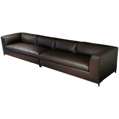 Michel Club Leather Sofa, by Antonio Citterio from B&B Italia