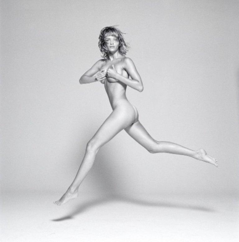 Michel Comte Black and White Photograph - Helena Christensen II