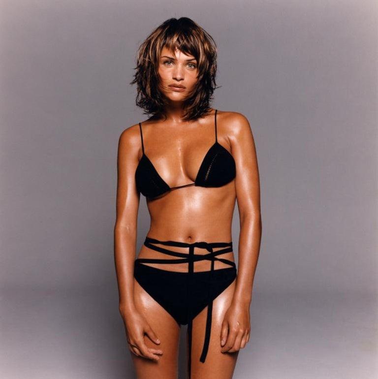 Michel Comte Portrait Photograph - Helena Christensen - portrait of the supermodel wearing a bikini