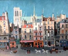 Notre-Dame de Paris, Côté Sud, acrylic paint on canvas