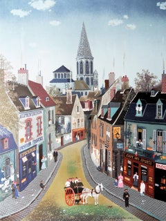 France : Traditional Village - Lithograph poster