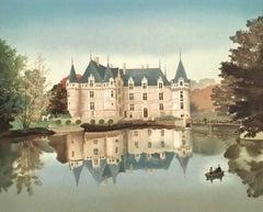 Azay le Rideau, Limited Edition Lithograph, Michel Delacroix