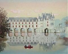 Chenonceaux, Limited Edition Lithograph, Michel Delacroix