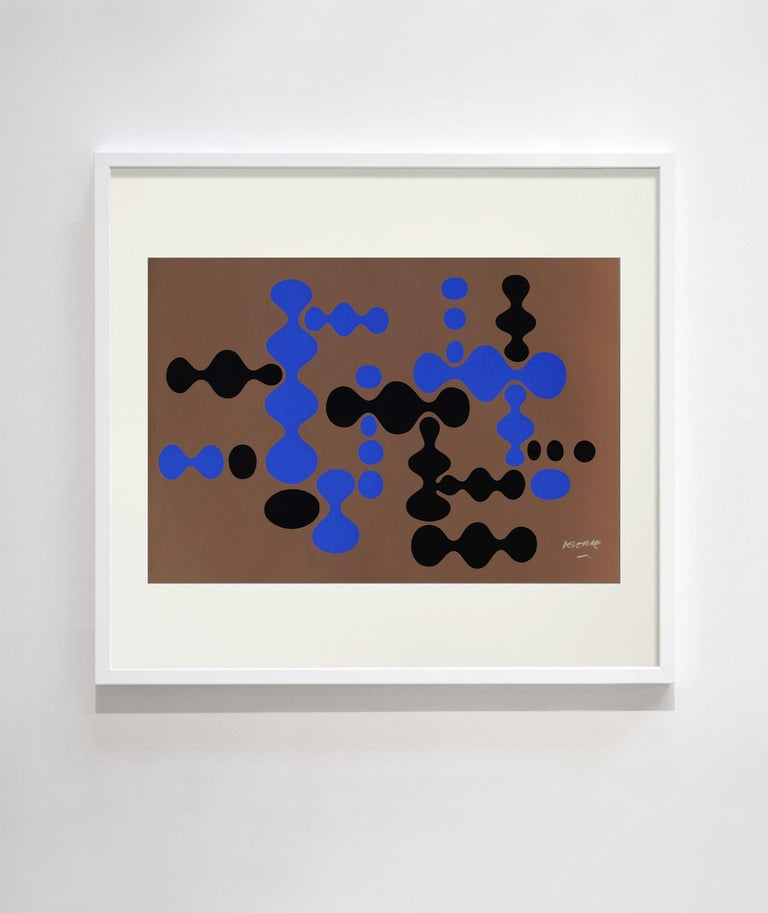 A multiple abstract limited edition of 50 of each print in colour. Lithograph. Signed. Not framed.  Deverne is a visual artist born in 1927 and died in 2012. The double teaching of his training he receives at the Decorative Arts and Fine Arts of