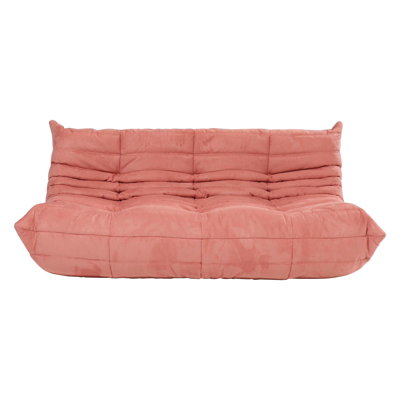 Michel Ducaroy for Ligne Roset Pink Togo Large Sofa