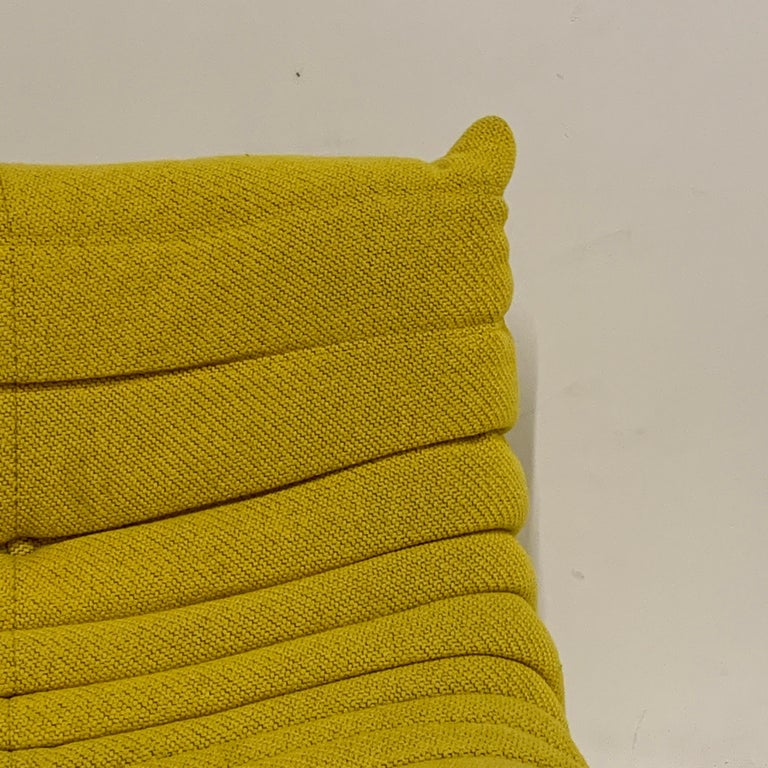 Contemporary Michel Ducaroy for Ligne Roset Rare Yellow Toga Sofa / Large Settee For Sale
