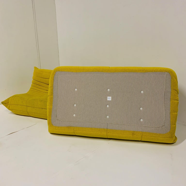 Michel Ducaroy for Ligne Roset Rare Yellow Toga Sofa / Large Settee For Sale 1