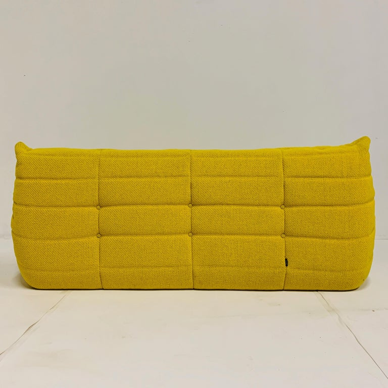 Michel Ducaroy for Ligne Roset Rare Yellow Toga Sofa / Large Settee For Sale 2