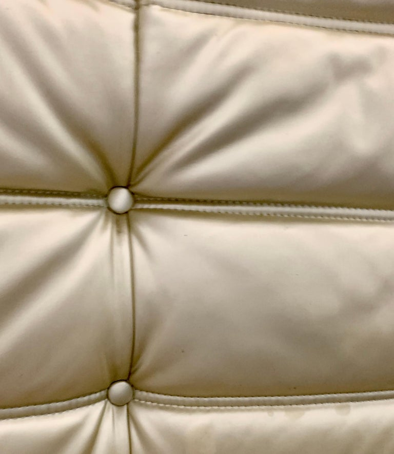 Michel Ducaroy for Ligne Roset Togo Three-Seat Sofa, Limited Edition, Gold 1990s For Sale 1