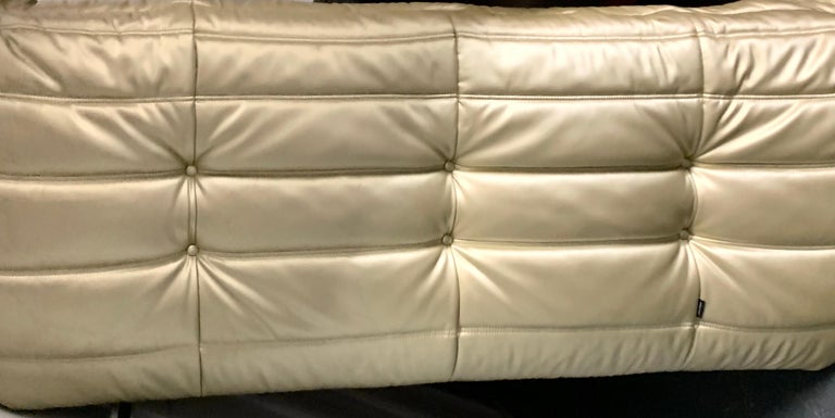 French Michel Ducaroy, Ligne Roset Togo Sofa with Arms, Limited Edition, Gold, Medium For Sale