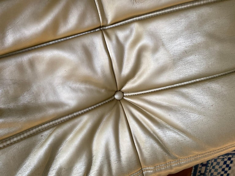 20th Century Michel Ducaroy, Ligne Roset Togo Sofa with Arms, Limited Edition, Gold, Medium For Sale