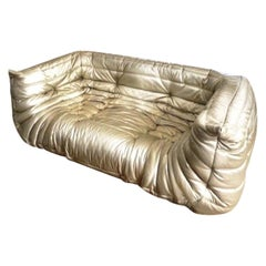 Michel Ducaroy, Ligne Roset Togo Sofa with Arms, Limited Edition, Gold, Medium