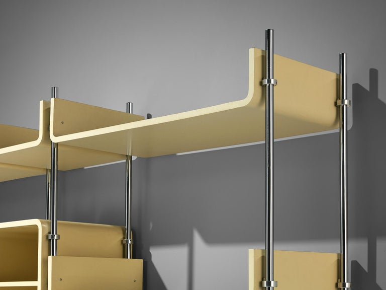 Steel Michel Ducaroy Modular Wall Unit For Sale