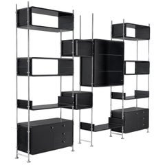 Michel Ducaroy Modular Wall Unit in Black