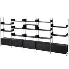 Michel Ducaroy Modular Wall Unit in Black