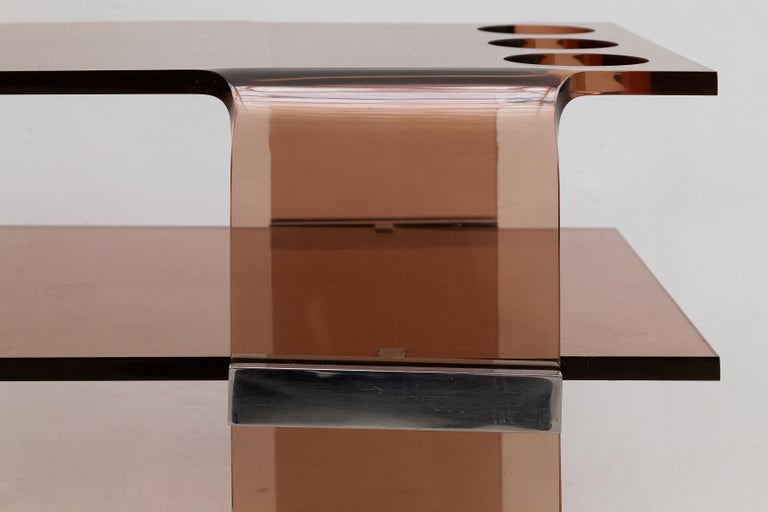 Michel Dumas for Roche Bobois 1970's Lucite Bar Cart, France In Good Condition For Sale In Antwerp, BE