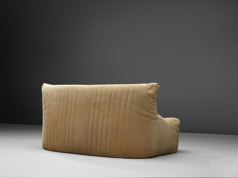 French Ligne Roset Settee in Off-White Fabric