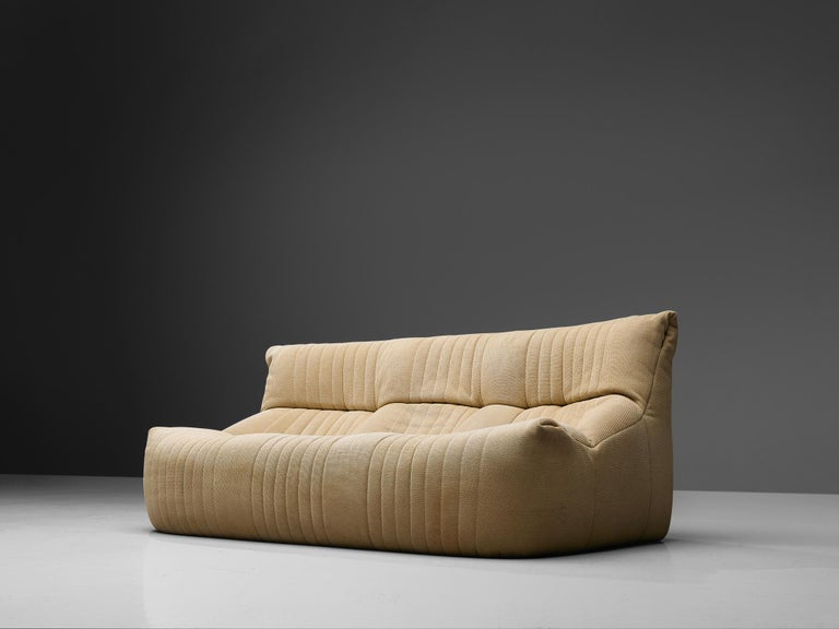 Post-Modern Ligne Roset Sofa in Off-White Fabric For Sale