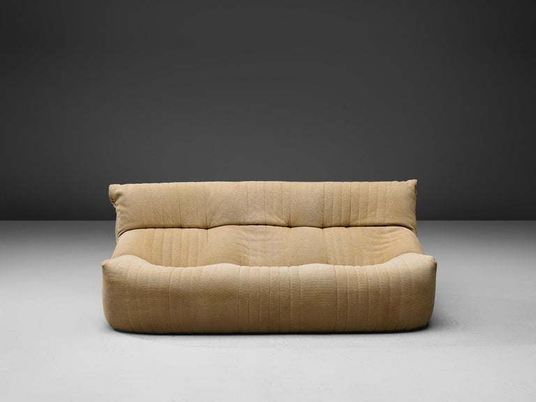 French Ligne Roset Sofa in Off-White Fabric For Sale