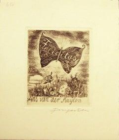 Felicitas / Ans Van der Kuylen - Original Etching by M. Fingesten