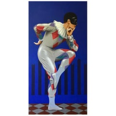 Michel Fokine as Harlequin, Life-Size Painting by Lynn Curlee