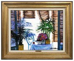 Michel Henry Original Oil Painting On Canvas Signed Still Life Flowers Artwork