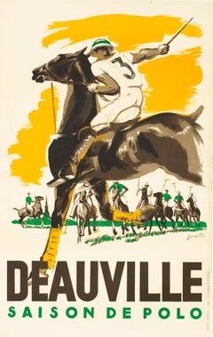 """""""Deauville - Saison de Polo"""" Original Vintage Sports Poster 1930s"""